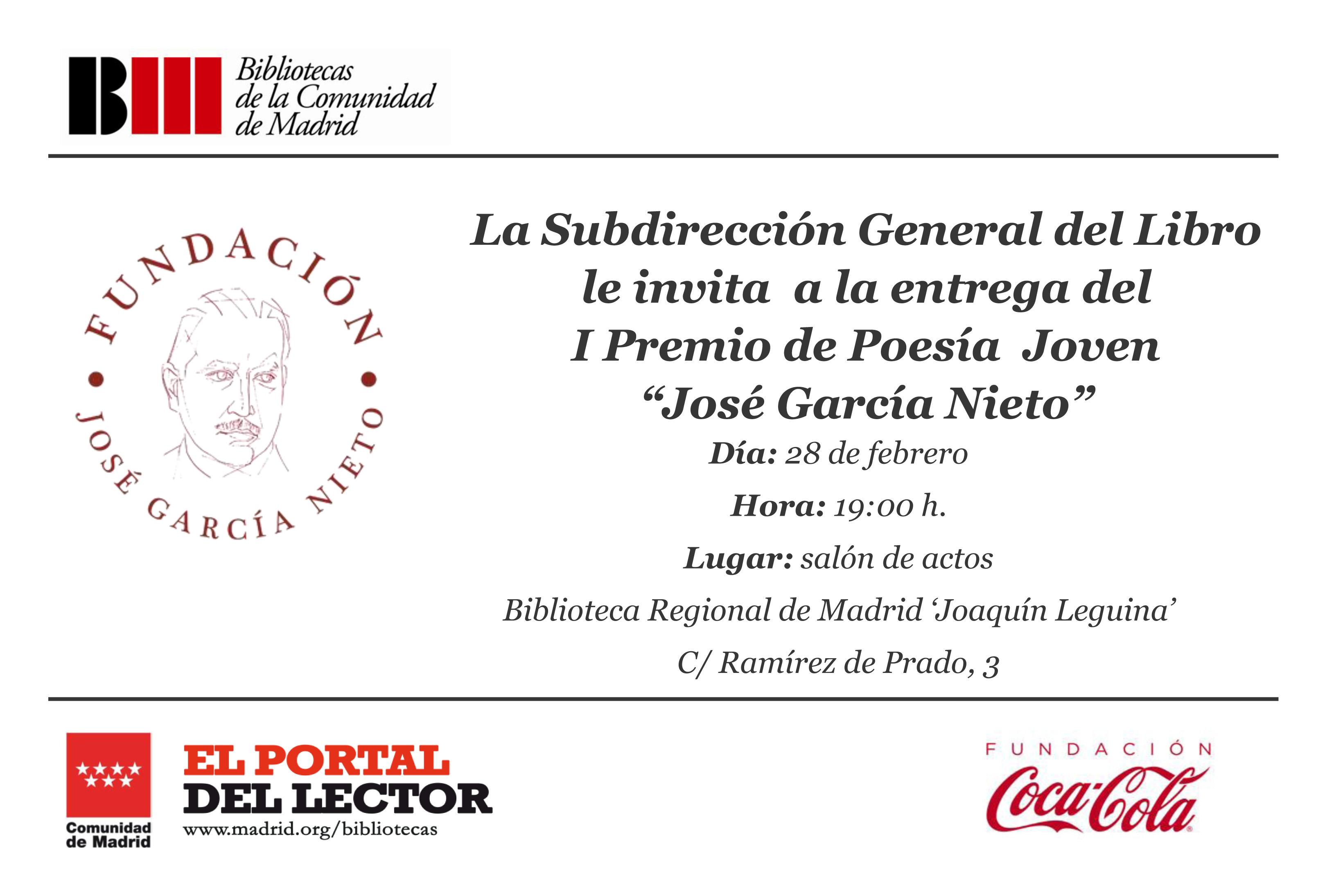 I premio de poesía joven José García Nieto