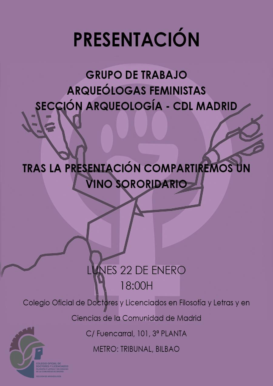 Presentación del grupo de trabajo arqueólogas feministas