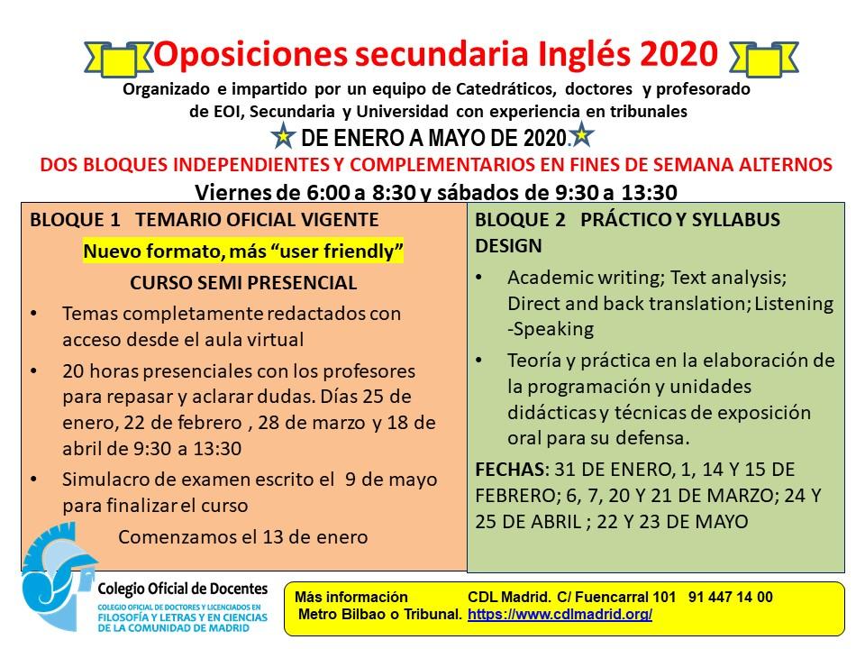 preparación oposiciones inglés